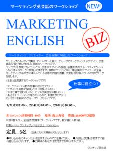 第一回マーケティング英会話_blog